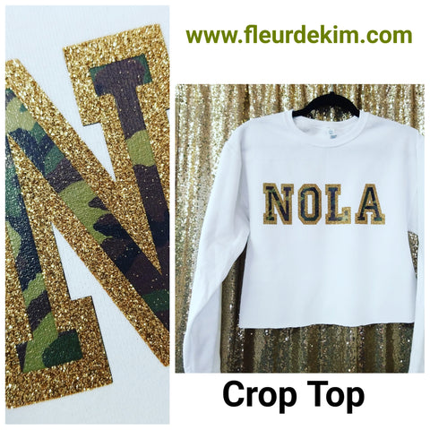 """Oversized""  camo crop top"
