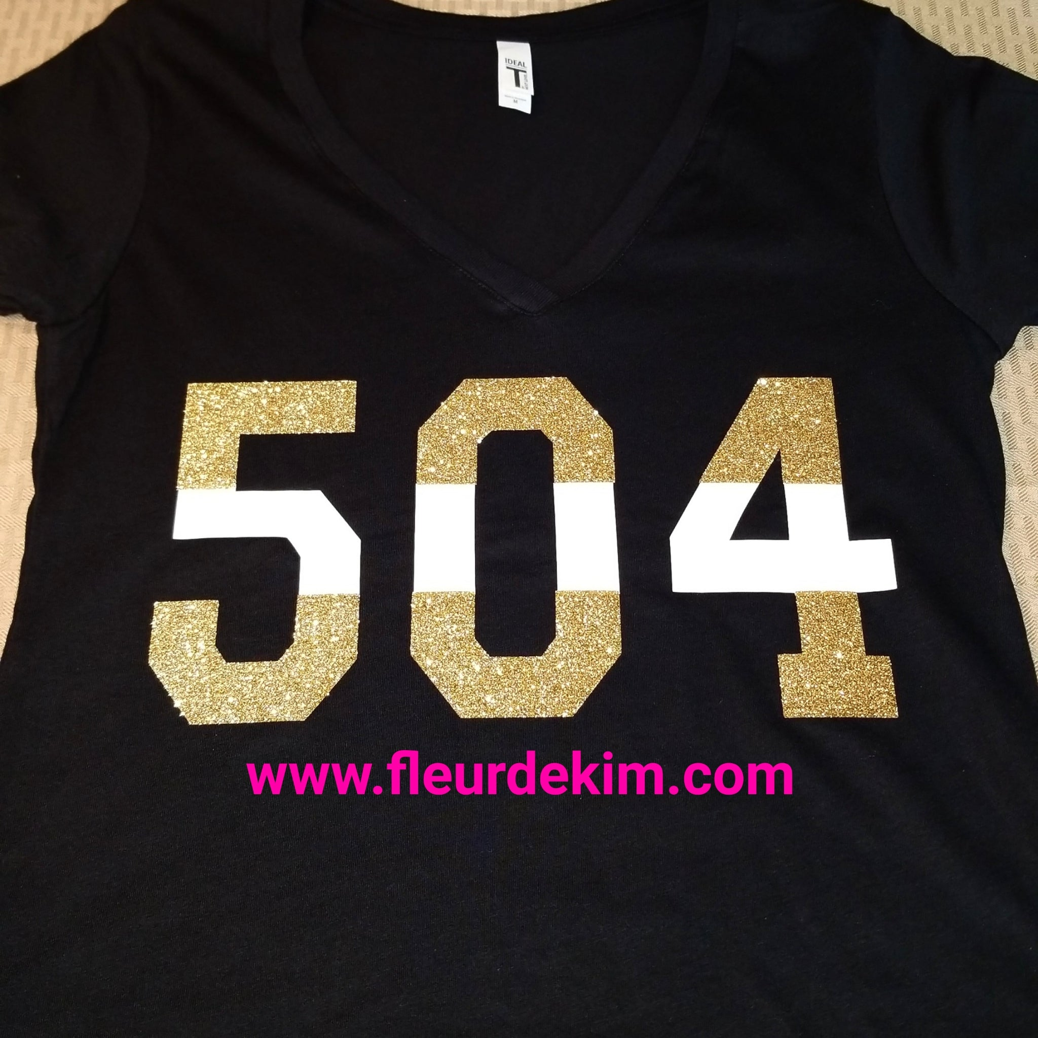 Black n gold n white 504 tshirts