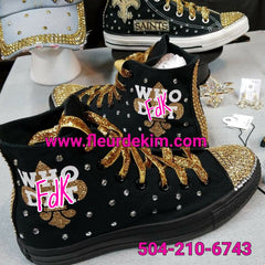 Bling Hi Tops tennnis all black