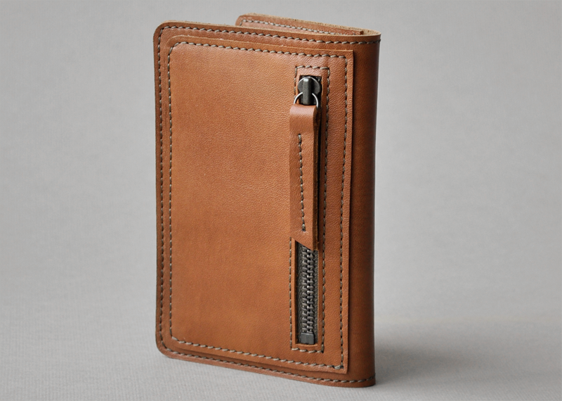 Porte-papiers zippé - Atelier St. Loup - Luxury leather goods in Nantes