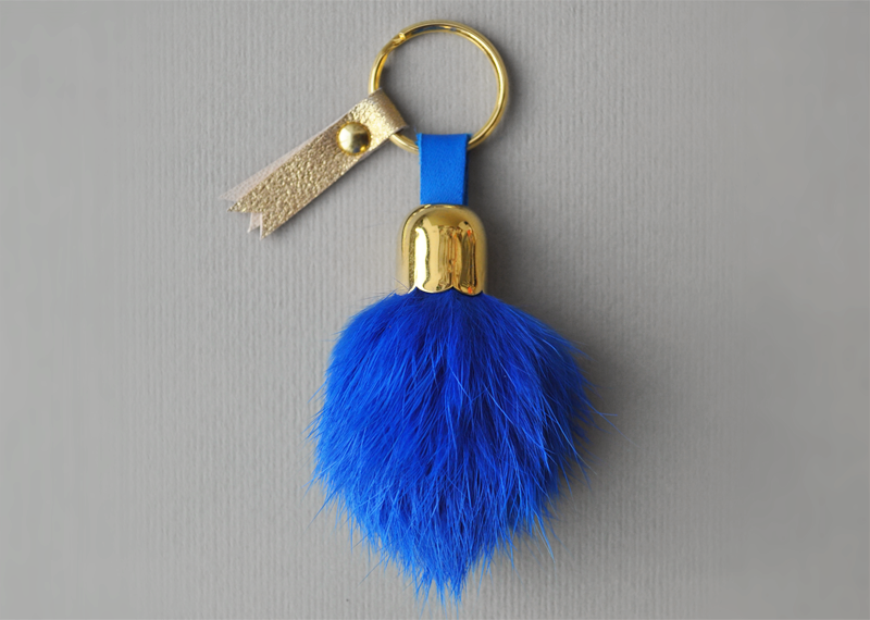 Porte-clés pompon - Atelier St. Loup - Luxury leather goods in Nantes
