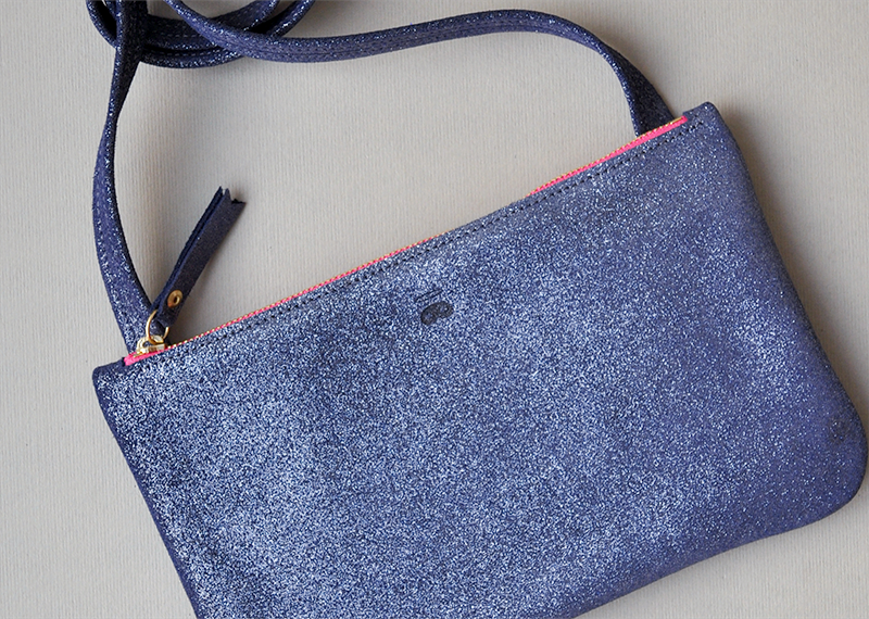 Pochette bandoulière simple - Atelier St. Loup - Luxury leather goods in Nantes