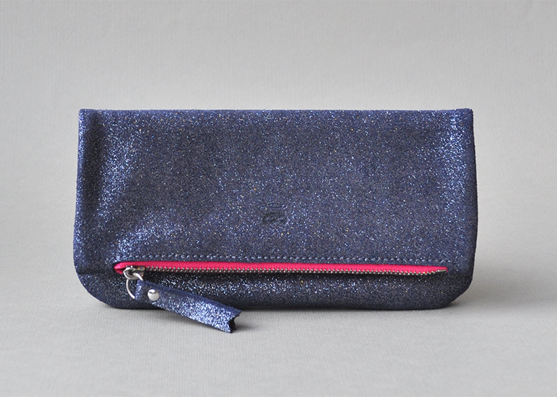 Pochette pliée 15cm - Atelier St. Loup - Luxury leather goods in Nantes