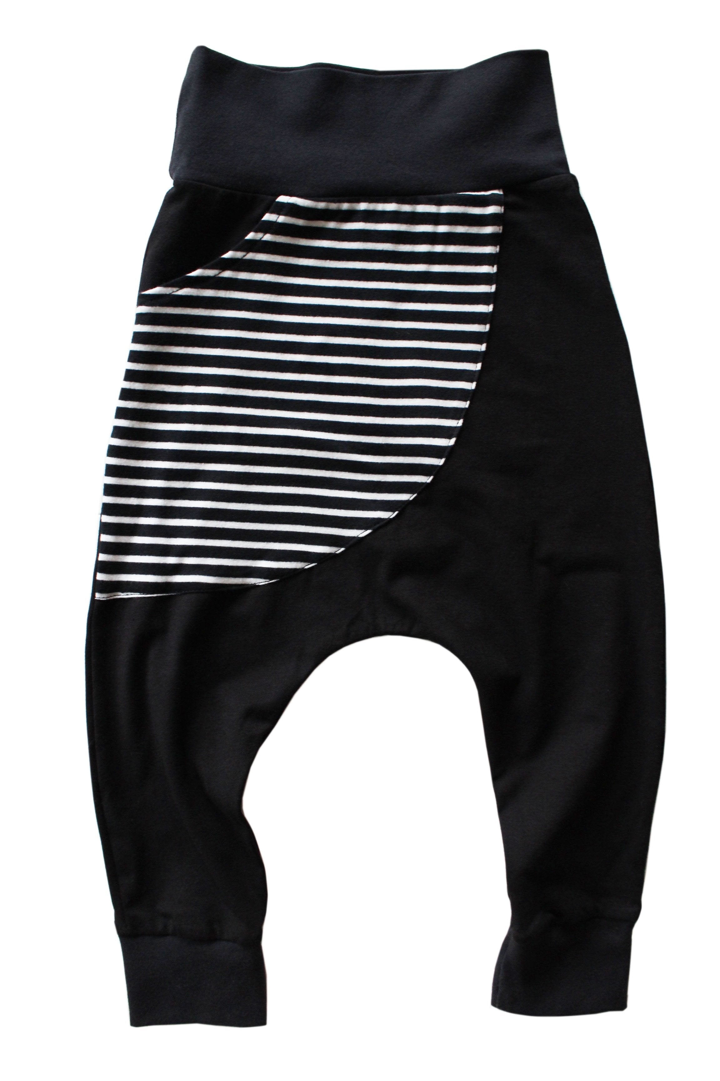 "STRIPE ""KANGAROO"" POCKET HAREMS"