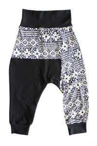 Two Tone Harems - Blue crush tribal & black