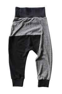 Two Tone Harems - TriBlend Grey & Black