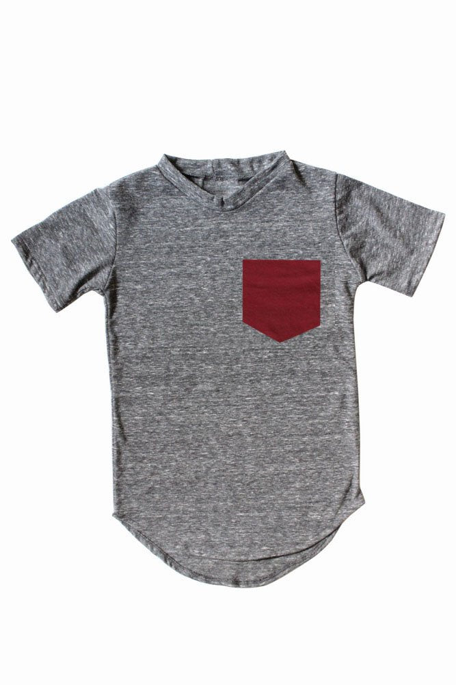 Pocket Tee | Burgundy Pocket
