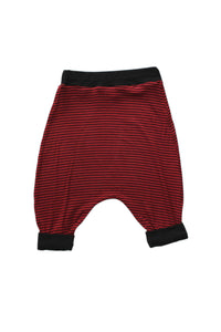 Red Black Striped Harem Shorts