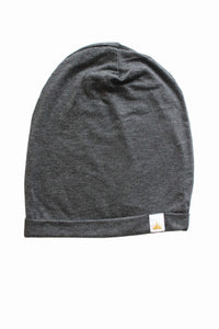 Heather Charcoal Slouchy Beanie
