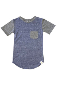 Tri Blend Color Block Tee