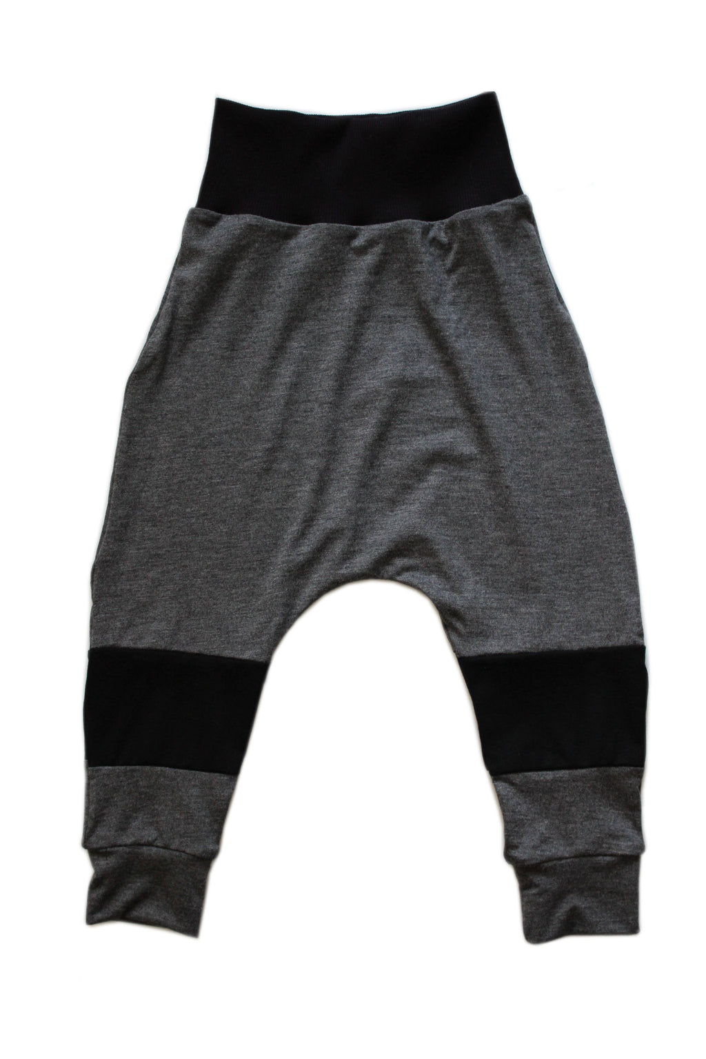 Panel Harem Pants - Grey & Black