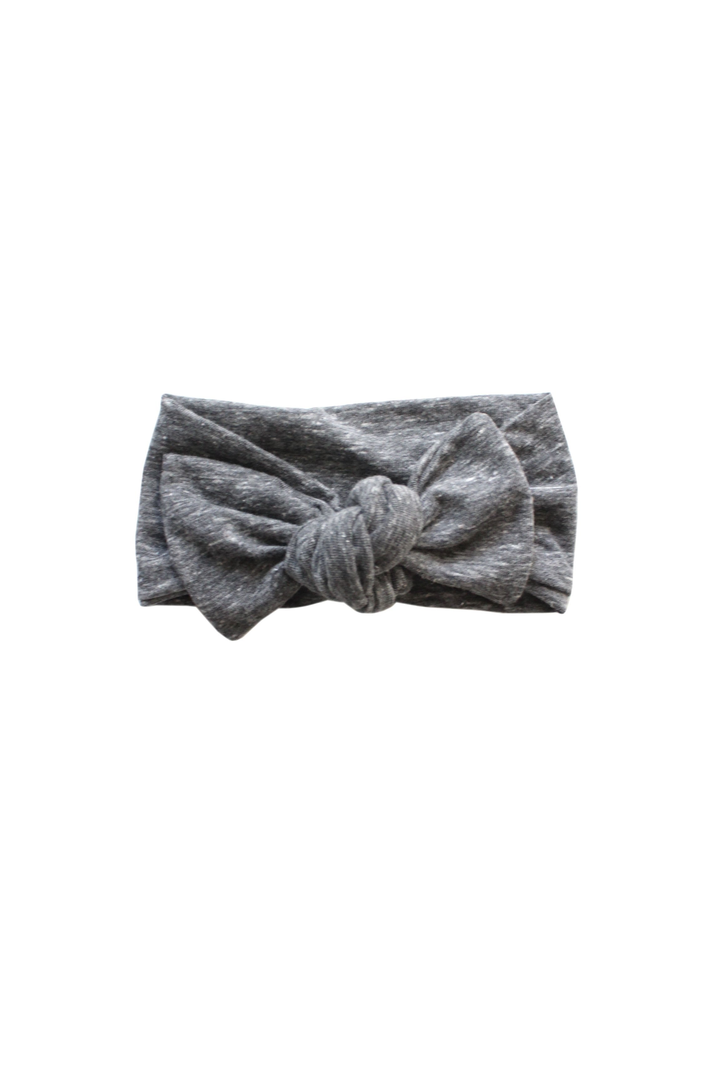 Tri-Blend Grey Knotted Headband