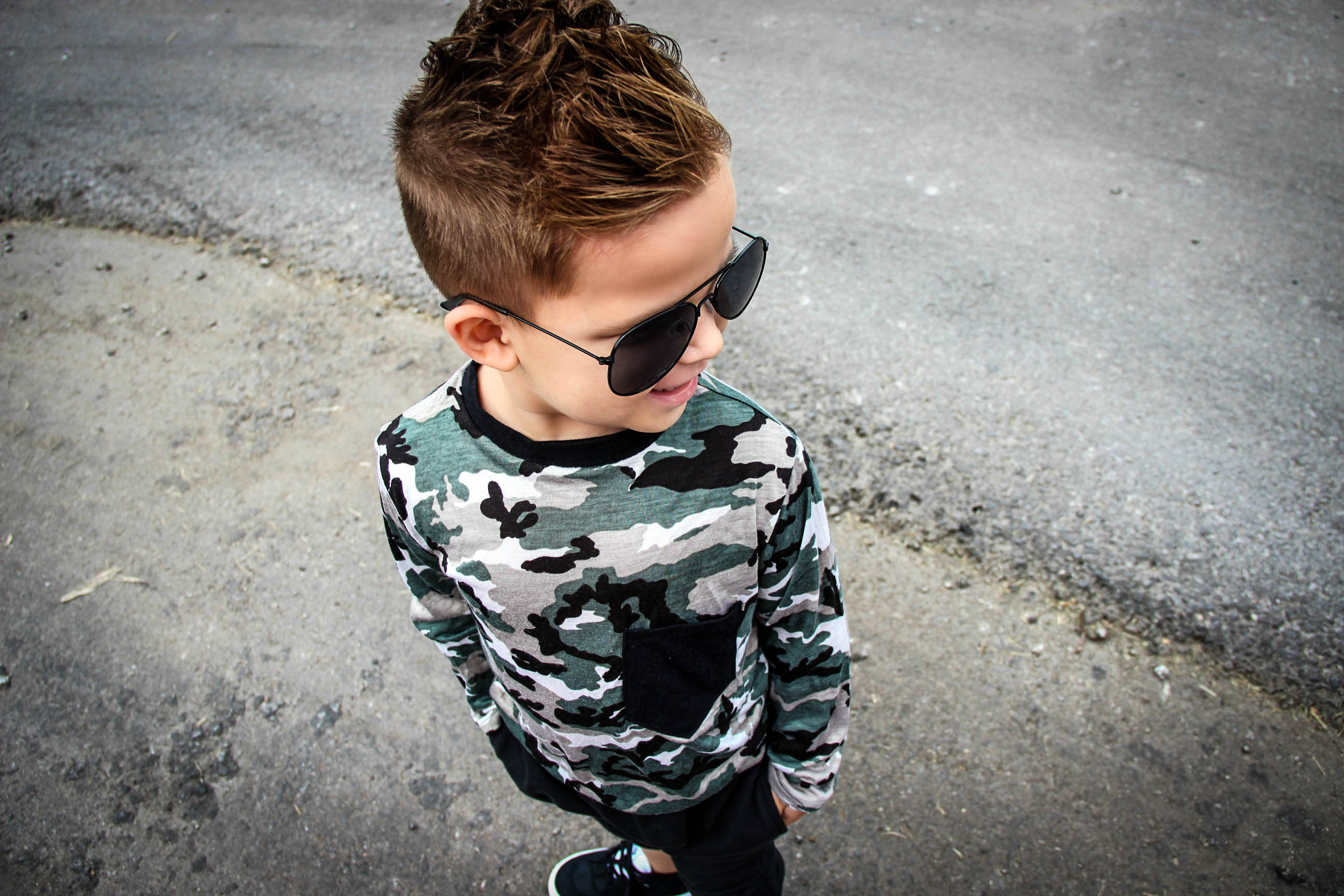 Mason Camo Long Sleeve Top