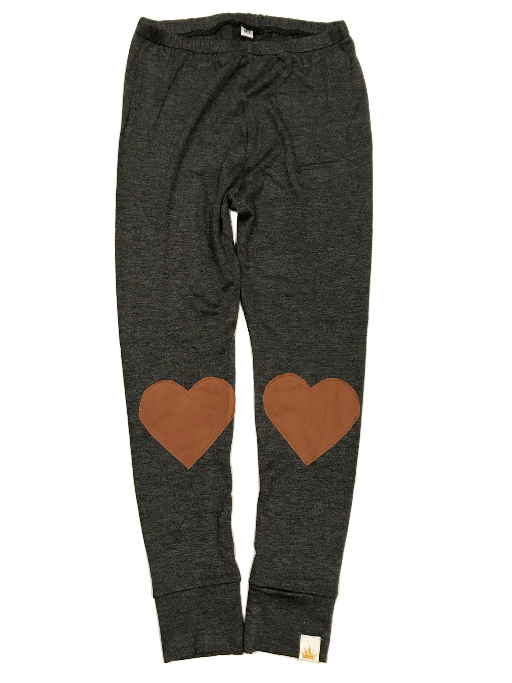 Suede Heart Patch Leggings