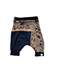 Normandy Floral Two Tone Harem Shorts
