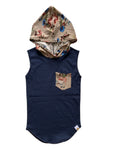 Normandy Floral Hooded Tail Tank