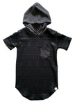 Black Aztec Hooded Tee