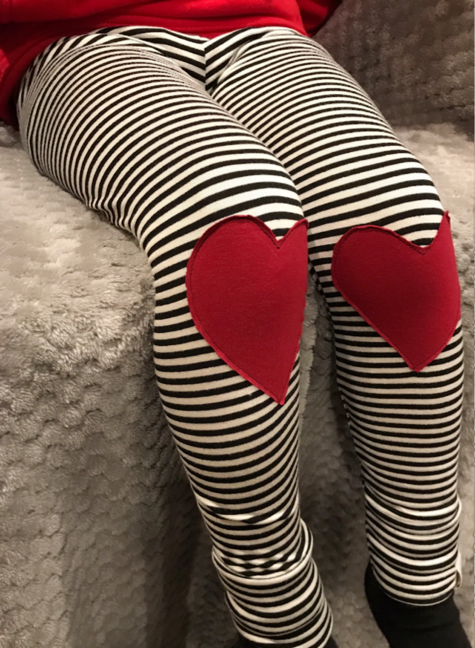 Red Heart Patch Leggings