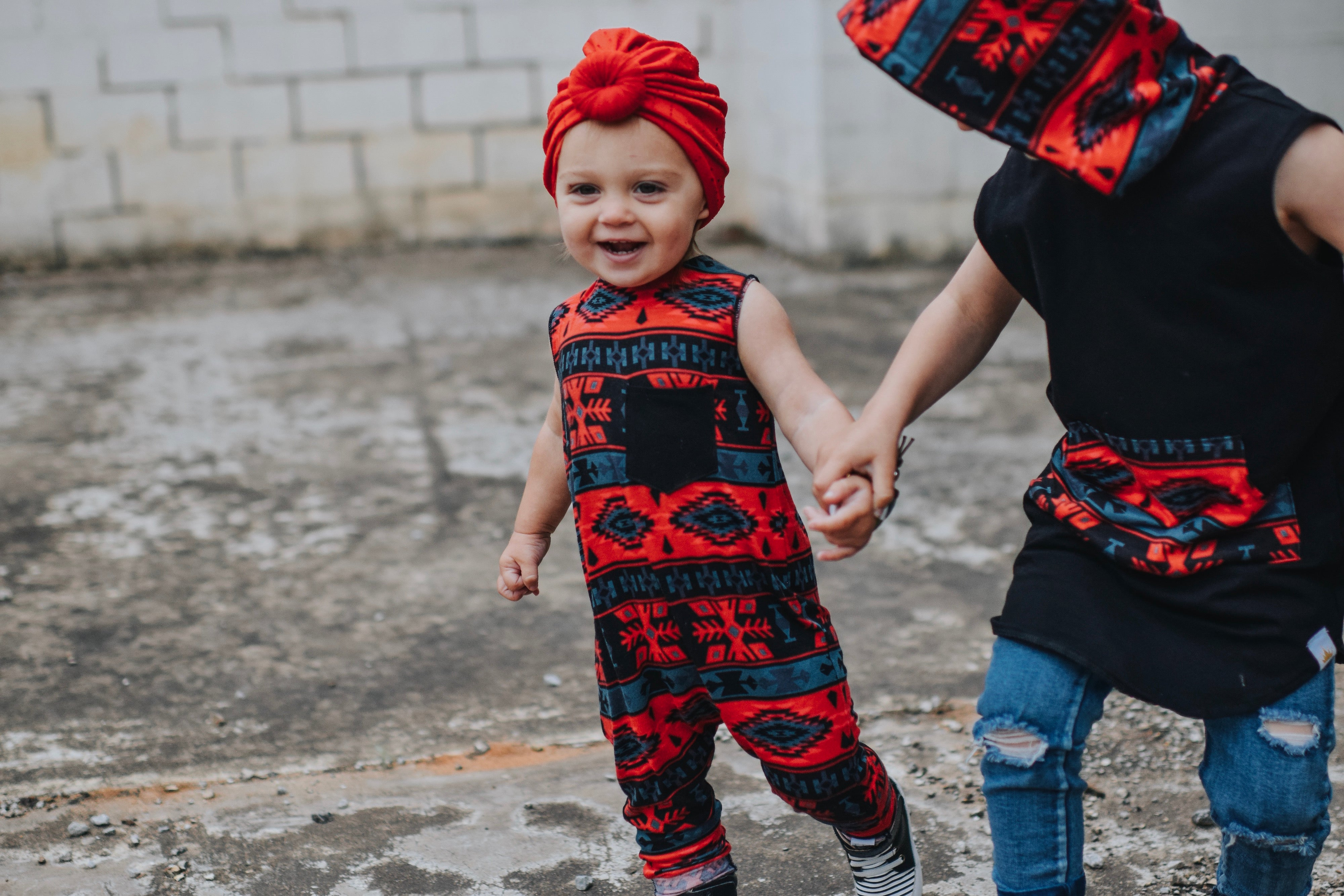 Chili Red Aztec Romper