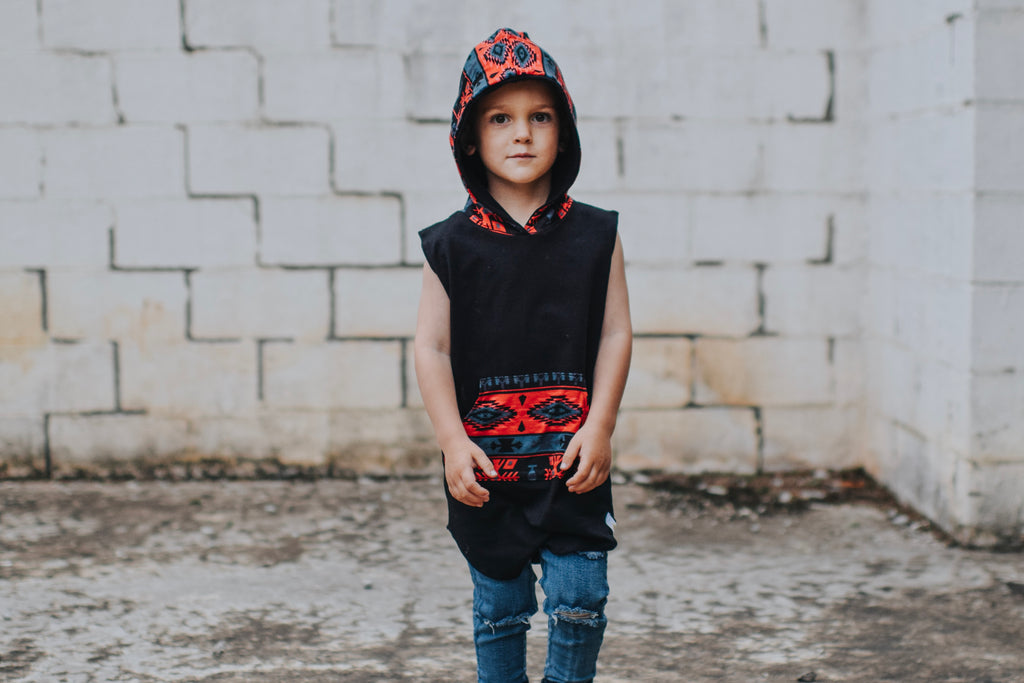 Chili Red Aztec Hooded Tank
