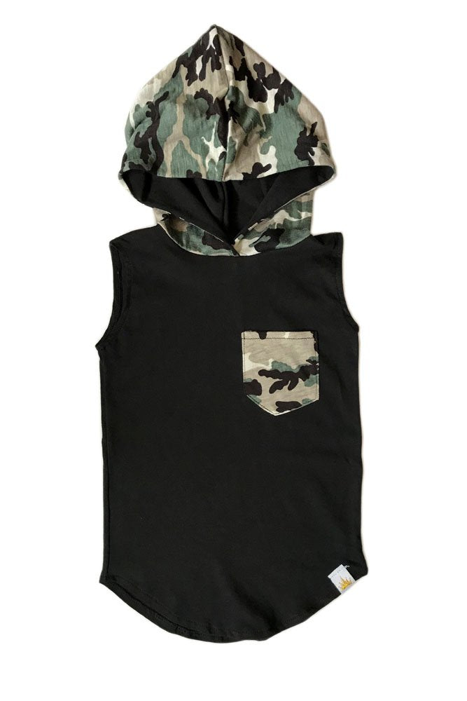 Tail Pocket Hooded Tank - Mason Camo