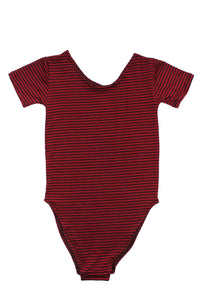 Red Black Striped Bodysuit