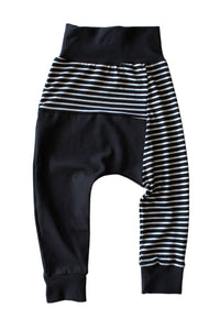 Two Tone Harems - B/W Striped