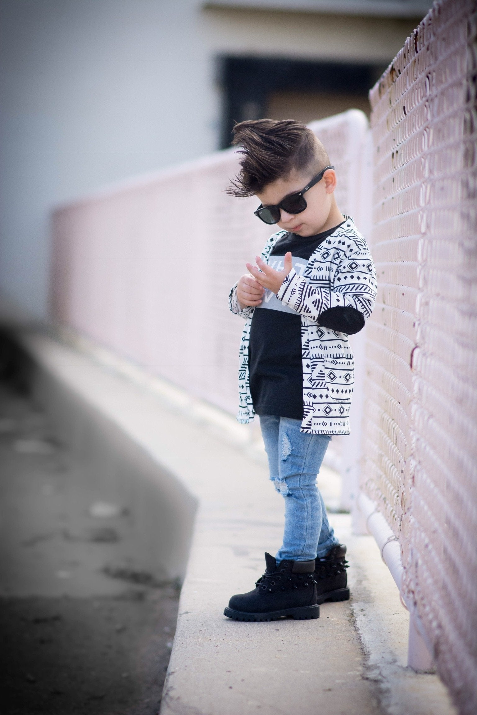 Black Tribal Cardigan