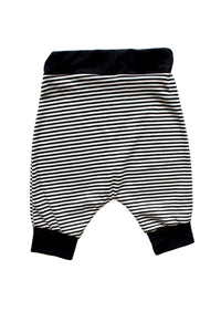 Tiny B/W Stripe Harem Shorts
