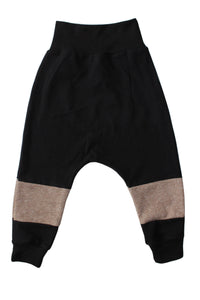 Panel Harem Pants - Mocha Terry