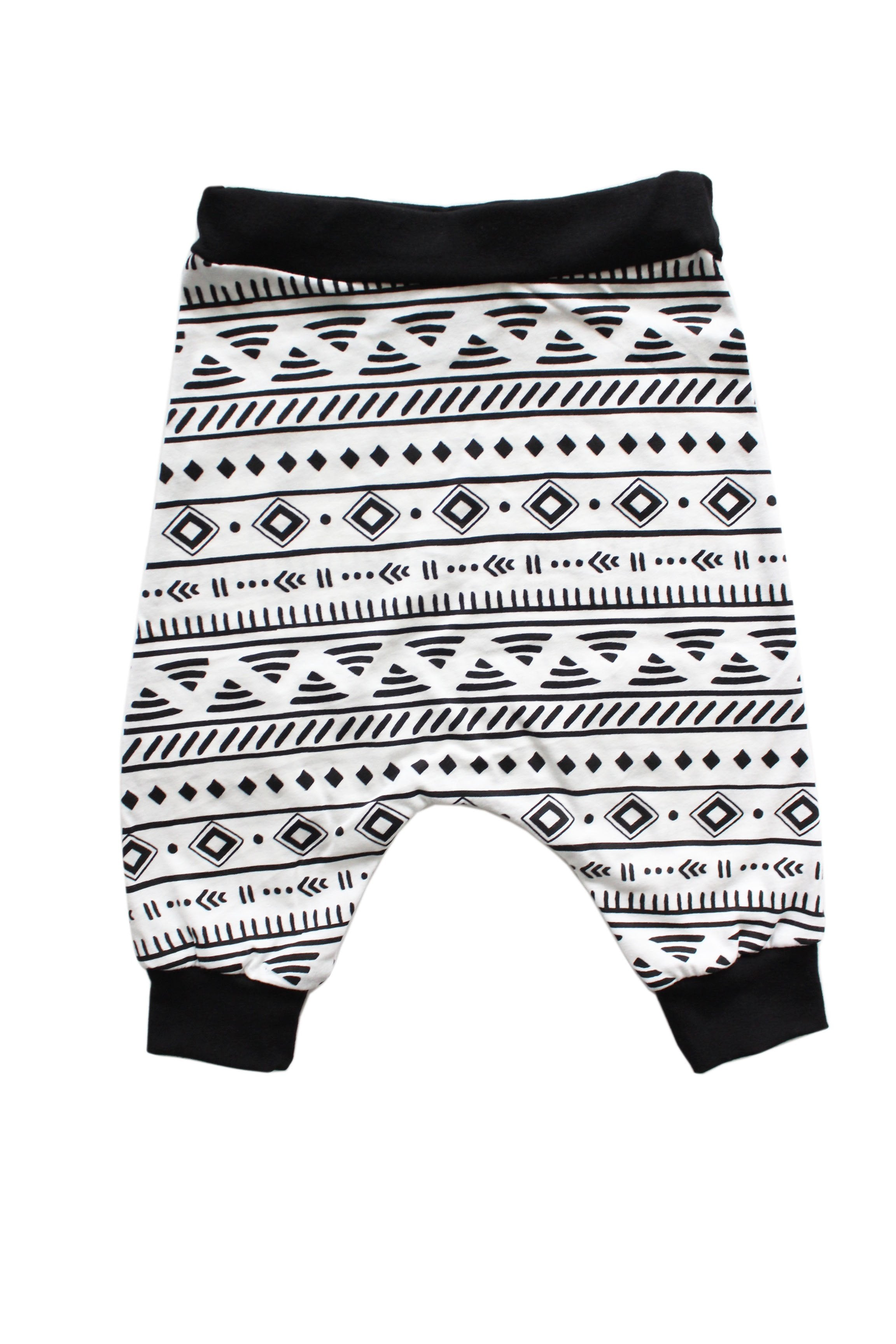 Raven Black Tribal Harem Shorts