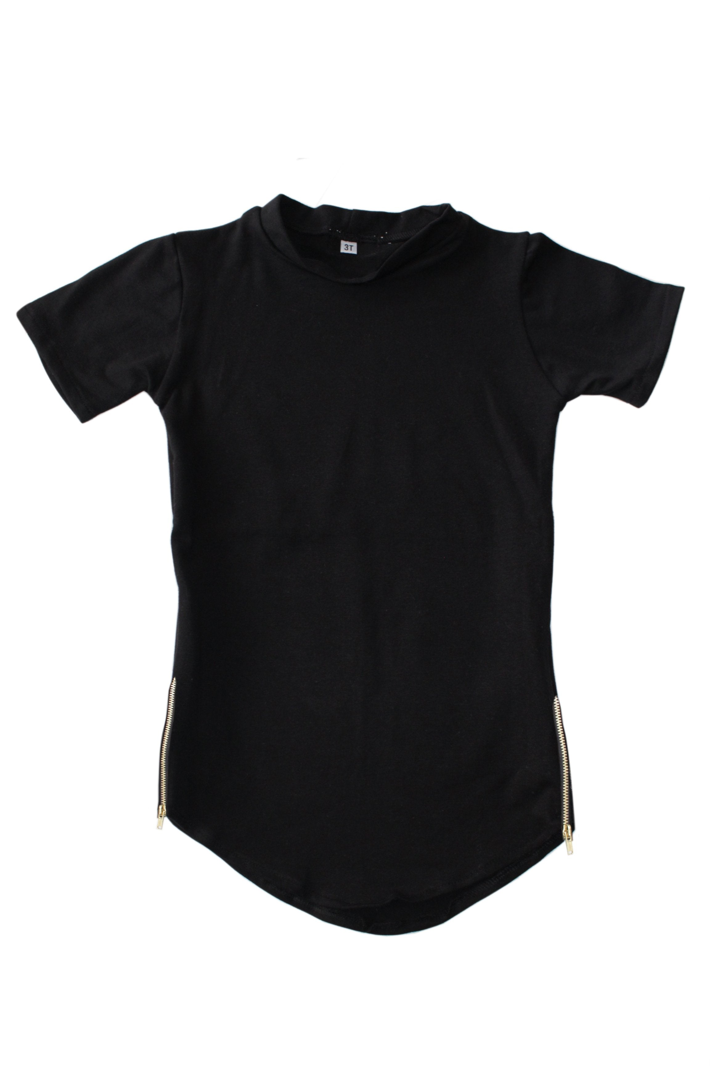 Zipper Tail Tee - Black