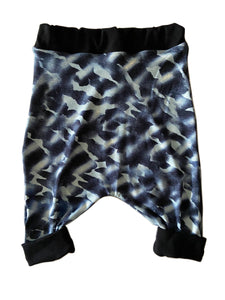 Blue Camo Harem Shorts