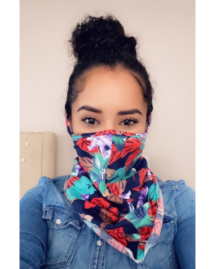 Hawaiian Face Mask Scarf