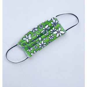 Face Mask Lime Green Daisy
