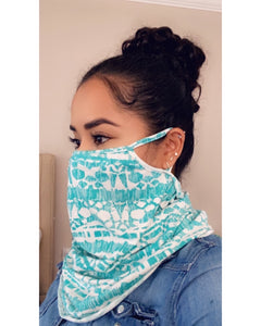 Mint Tribal Face Mask Scarf