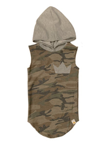 Olive Camo Hooded Tail Tank