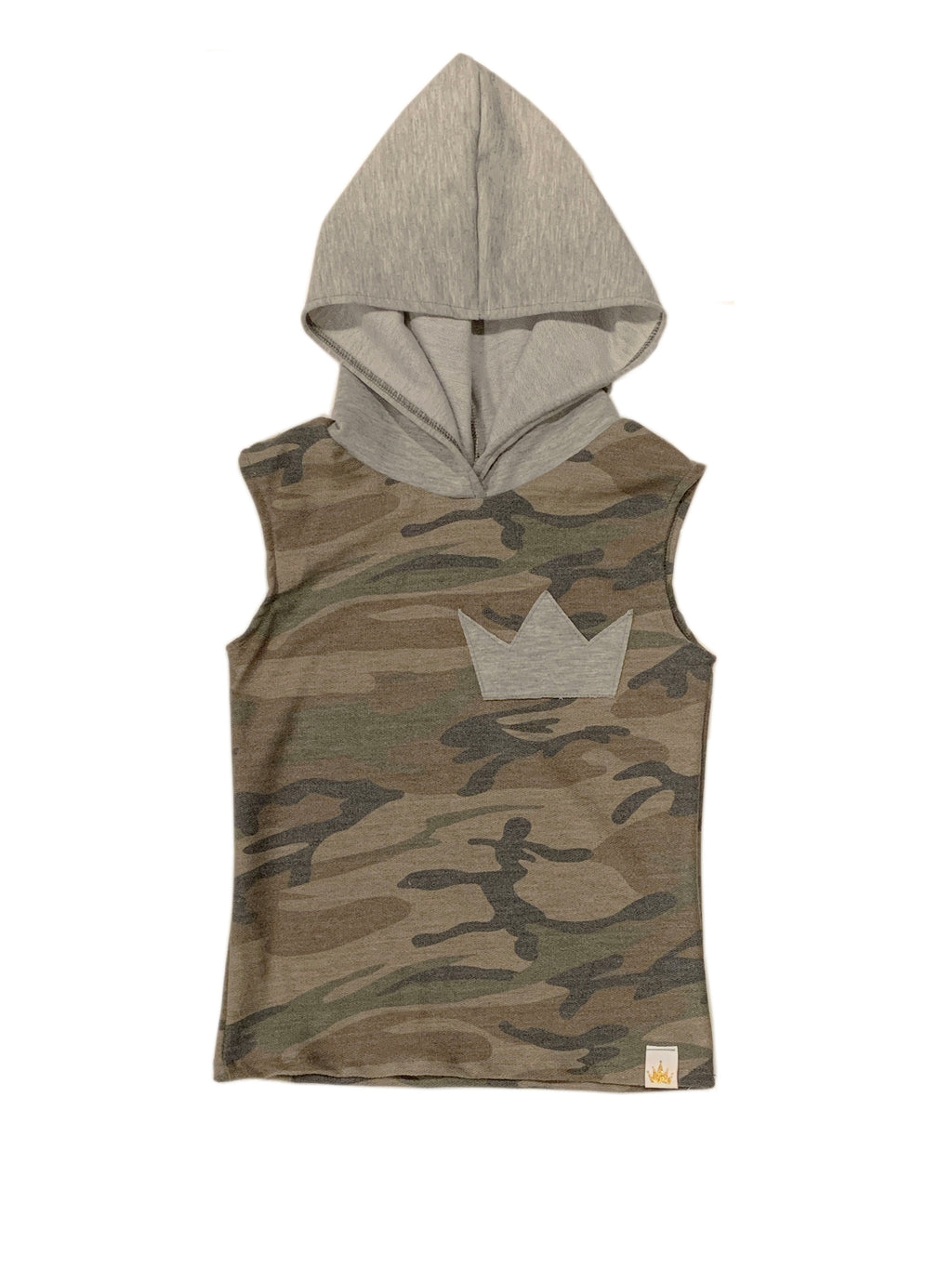 Olive Camo Hooded Regular Tank