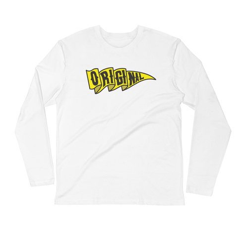 Yellow Flag Long Sleeve Fitted Crew