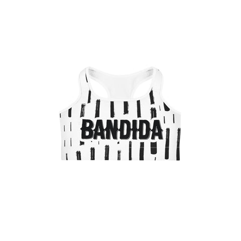 Bandida White Sports bra