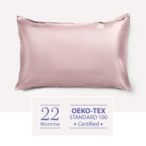 22 Momme Mulberry Pillowcase・Blush | 22姆米美肌真絲枕頭套・Blush
