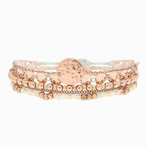 Rose Gold Rush Bracelet Set | Rose Gold Rush防水手繩組合・By Aspyn Ovard