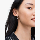 Kate Spade Pave Drop Huggies Earring | 金色閃鑽珍珠耳環
