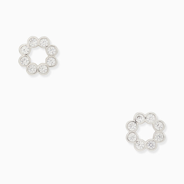 Kate Spade Full Circle Studs Earring・Silver | 銀色閃石圓圈耳環