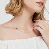 .925 Sterling Silver Sideway Letter L Necklace (18k white gold plating) | .925純銀鍍18K金L字母項鍊
