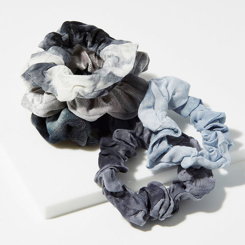 Hair Tie Dye Scrunchies・Slate | 紮染冬甩髮圈・Slate五個裝