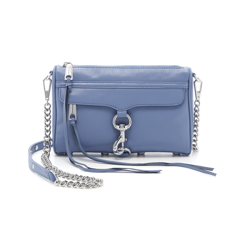 Rebecca Minkoff Mini Mac Crossbody Deep-Denim | Rebecca Minkoff Mini Mac 天空藍真皮斜揹袋