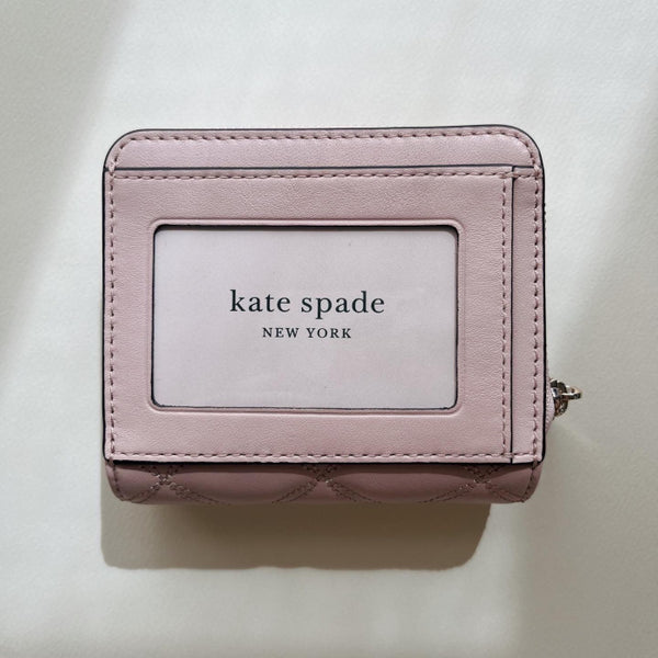 Cameron Street Stacy, Black | Kate Spade 黑色十字紋皮長銀包