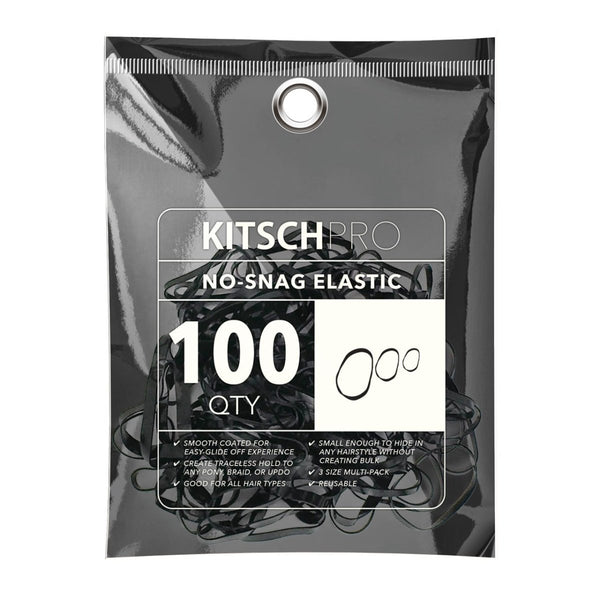 No-Snag Elastic・Black 100pc | No-Snag 橡筋髮圈・黑色100條