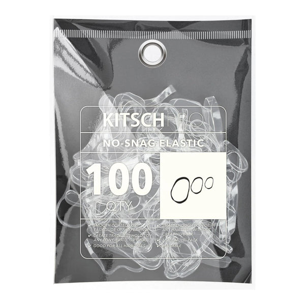 No-Snag Elastic・Clear 100pc | No-Snag 橡筋髮圈・透明100條